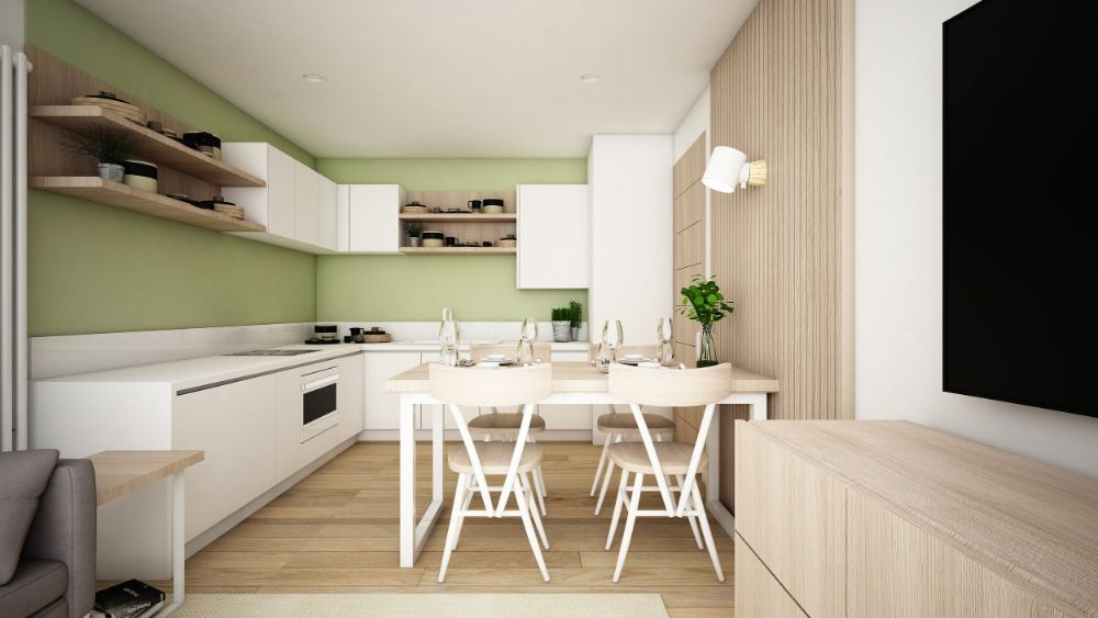 borough green open plan kitchen