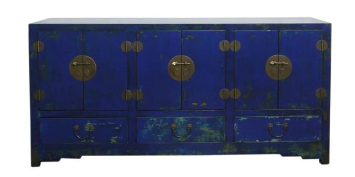 Chinese blue cabinet